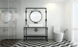 Biały ściana z cegieł tło i Fotografia Stock