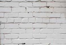 Biały ściana z cegieł tło w wiejskim pokoju, Fotografia Royalty Free