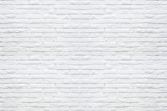 Biały ściana z cegieł wzoru tekstury tło Obraz Stock