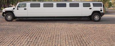 biały Ślubna limuzyna Fotografia Stock