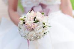 Biały ślubny bukiet Obraz Stock