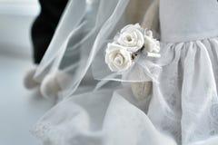 Biały ślubny tło białe kwiaty obrazy stock