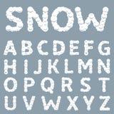 Biały Śnieżny abecadło Fotografia Royalty Free