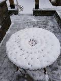 Biały śniegu stół obraz stock