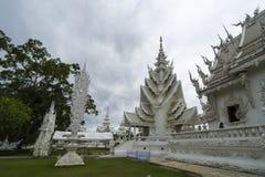 Biały świątynia, wat rong khun, Chiang Rai Zdjęcia Stock