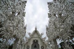 Biały świątynia, wat rong khun, Chiang Rai Zdjęcia Royalty Free
