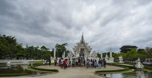 Biały świątynia, wat rong khun, Chiang Rai Obrazy Stock