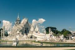 Biały Świątynny Wat Rong Khun Obraz Royalty Free