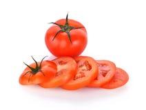 biały świezi tło pomidory Obraz Royalty Free