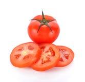 biały świezi tło pomidory Obraz Stock