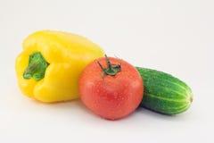 biały świezi tło warzywa Obraz Stock