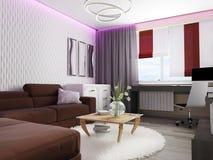Biały żywy izbowy wnętrze Obraz Royalty Free