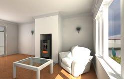Biały żywy pokój Obraz Royalty Free
