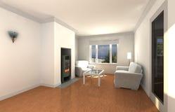 Biały żywy pokój Zdjęcia Stock