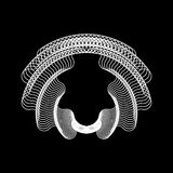 Biały Abstrakcjonistyczny Fractal kształt ilustracja wektor