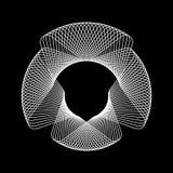 Biały Abstrakcjonistyczny Fractal kształt ilustracji