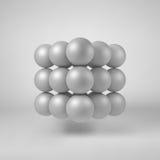 Biały Abstrakcjonistyczny Poligonalny kształt ilustracja wektor