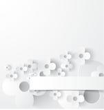Biały abstrakcjonistyczny tło Fotografia Stock