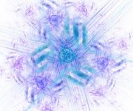 Biały abstrakcjonistyczny tło z błękitną kwiecistego ornamentu teksturą Pur Fotografia Stock