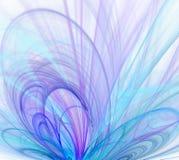 Biały abstrakcjonistyczny tło z - fiołkiem, turkus, błękit, purpl ilustracji