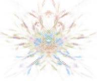 Biały abstrakcjonistyczny tło z pixelated storczykową płatek teksturą Fotografia Royalty Free