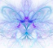 Biały abstrakcjonistyczny tło z tęczą - purpura, turkus, błękitny Obraz Royalty Free