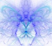 Biały abstrakcjonistyczny tło z tęczą - purpura, turkus, błękitny royalty ilustracja