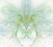 Biały abstrakcjonistyczny tło z tęczą - zieleń, turkus, błękit, royalty ilustracja