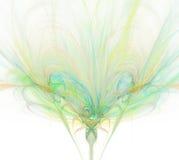Biały abstrakcjonistyczny tło z tęczą - zieleń, turkus, orang ilustracji