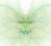 Biały abstrakcjonistyczny tło z tęczą - zieleń, turkus, orang Zdjęcie Royalty Free