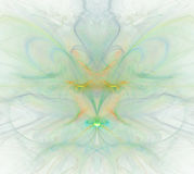Biały abstrakcjonistyczny tło z tęczą - zieleń, turkus, orang royalty ilustracja