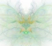 Biały abstrakcjonistyczny tło z tęczą - zieleń, turkus, orang Obraz Stock