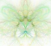 Biały abstrakcjonistyczny tło z tęczą - zieleń, turkus, yello ilustracja wektor