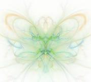 Biały abstrakcjonistyczny tło z tęczą - zieleń, turkus, yello royalty ilustracja