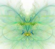 Biały abstrakcjonistyczny tło z tęczą - zieleń, turkus, yello Zdjęcie Stock