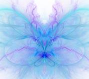 Biały abstrakcjonistyczny tło z zimnem - błękit, turkus, purpury - Obrazy Stock
