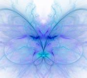 Biały abstrakcjonistyczny tło z zimnem - błękit, turkus, purpury - ilustracji