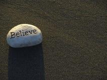 Biały afirmacja kamień Fotografia Royalty Free