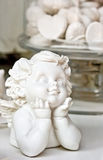 Biały anioł z ścinek ścieżką - fotografia stock
