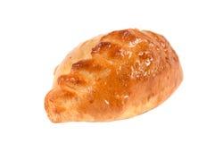 biały apetyczni odosobneni kulebiaki Fotografia Stock