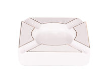 Biały ashtray Zdjęcie Royalty Free