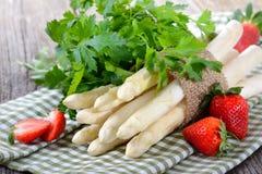 Biały asparagus Obrazy Royalty Free