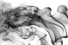 Biały, błękitny, czarny i tęcza kolorowy dymu wzór, Obraz Royalty Free