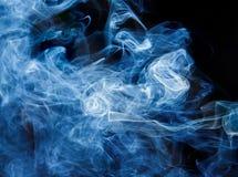 Biały, błękitny, czarny i tęcza kolorowy dymu wzór, Fotografia Royalty Free