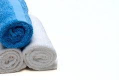 biały błękitny ręczniki Zdjęcia Royalty Free