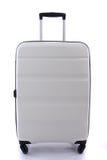 Biały bagaż odizolowywający fotografia stock