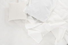 Biały bieliźniany płótno Fotografia Stock