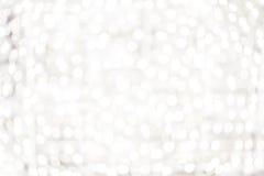 Biały Bokeh tło - Jaskrawi Abstrakcjonistyczni defocused tło wi fotografia royalty free