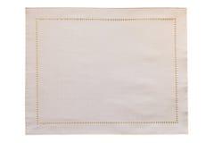 Biały brezentowy tablecloth odizolowywający Zdjęcie Stock