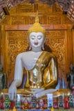 Biały Buddha wizerunek fotografia royalty free